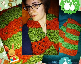 Cute Easter Bunny Carrot Scarf