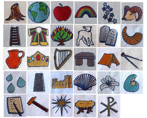 Jesse Tree Symbols Machine Embroidery Instant Digital Download Files ...