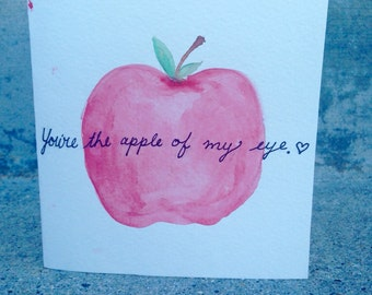 Apple of my eye valentine card