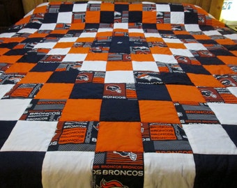 Popular Items For Denver Broncos Quilt On Etsy