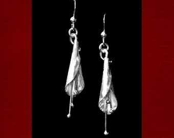 Sterling Silver Lily Earrings