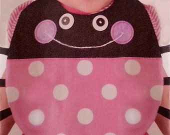 Custom Ladybug Baby Bib