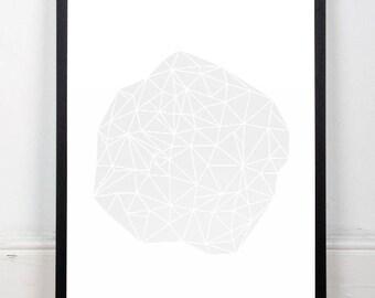 Triangles art print, Chic print, Chic art, Modern poster, Modern art print, Minimalist artwork, Nordic poster, Home decor, Modern wall decor