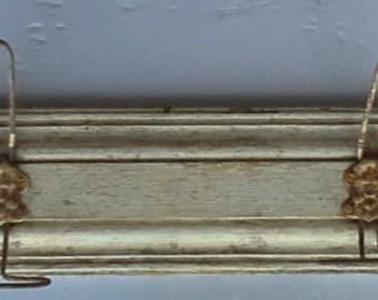 Wooden hanger and metal