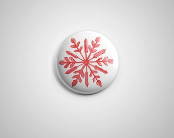 "PCS-PIN-017 - Snow Xmas Pinback button - 1.75""-Perfcase"