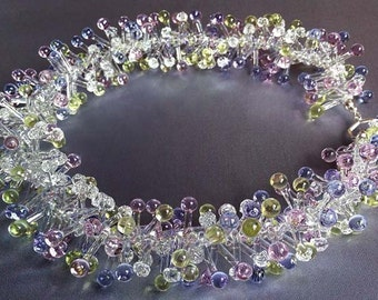 Glass Cluster Necklace