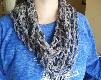 Crocheted Beautiful light and stylish scarf