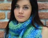 Knitted Scarves, Cold Weather, Women's Fashion Knit Skarf for Winter, Multicolor Scarf, Romantic fashion, For Her, Cozy