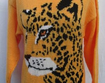 Hand knitted Jaguar sweater