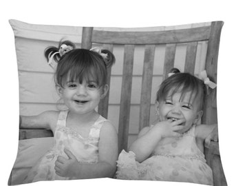 12x16 Custom PHOTO Pillow with faux down insert - Customize with your favorite photo