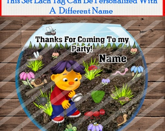 12 Sid The Science Kid Personalized Tags Party Favor Tags, Thank You Tags, Gift Tags Birthday
