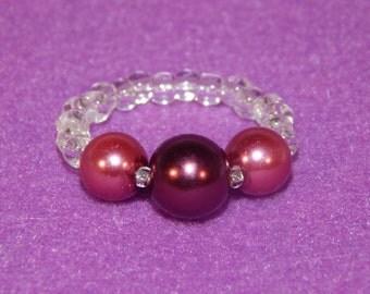 Burgundy Pearl Ring
