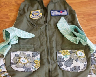 FLIGHT SUIT APRON // Mothers Day Gift  // Military Uniform
