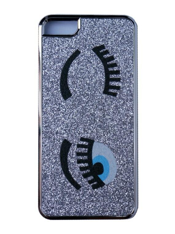 flirty eyes silver iphone case