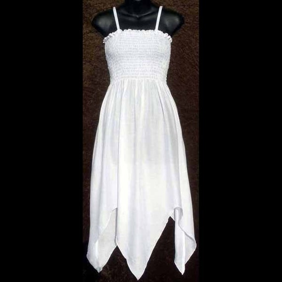 Items similar to fairy hippie beach white ladies womens for Dyeing a wedding dress professionally