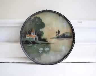 vintage wall decor / vintage tray