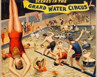 24x36 Poster; Barnum & Bailey Circus Grand Water Circus