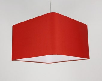 Lampshade 'Square Red 30'