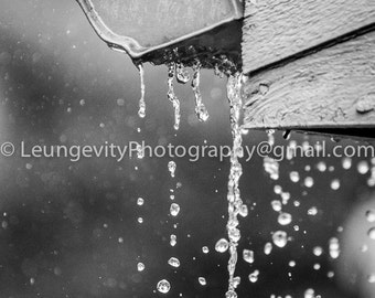 Lazy Rain Gutter, Limited Edition photograph