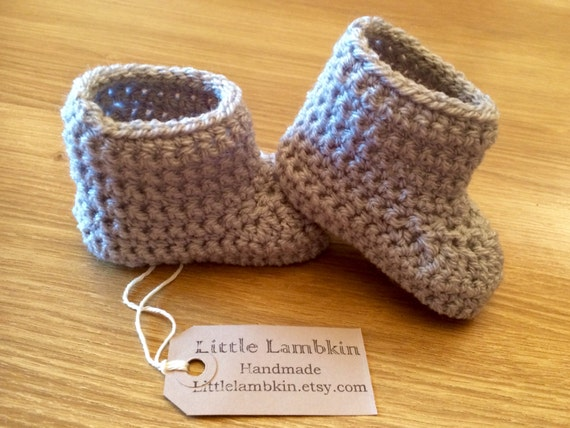 Crochet Uggs : crochet baby boots baby uggs baby shower gift by LittleLambkin