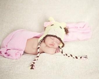 Crochet giraffe hat and diaper cover