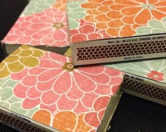 Colorful Paper Matchbox Wedding Favors