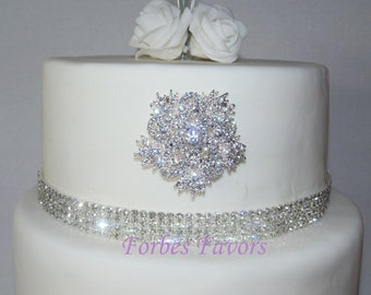 Rhinestone 5 Pointer Flower Cake Push In