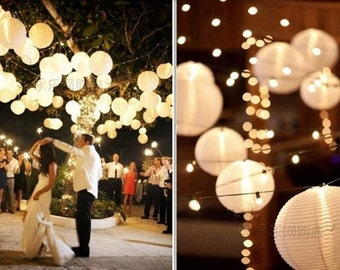 12pcs White Lights for Paper Lanterns & Balloons Wedding and Special Events