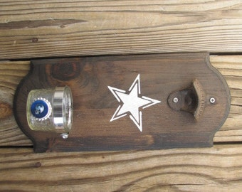 Dallas Cowboys Rustic Wall-mount Bottle Opener