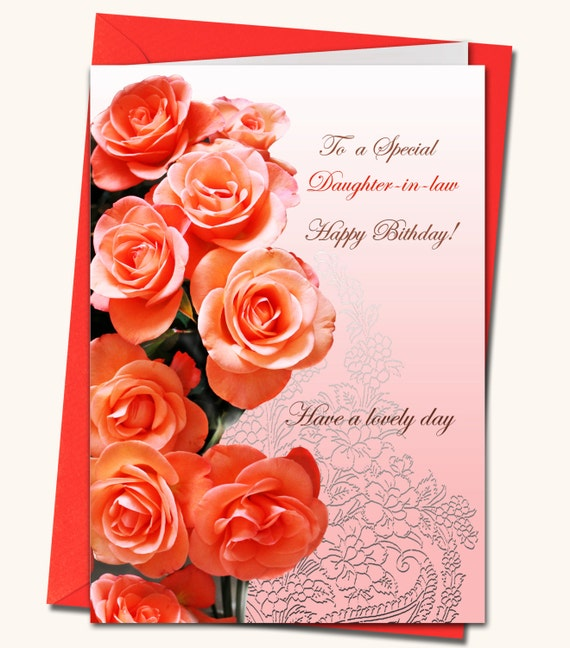 DaughterinLaw Daughter Mother Sister Friend Birthday – Birthday Greeting Cards Daughter