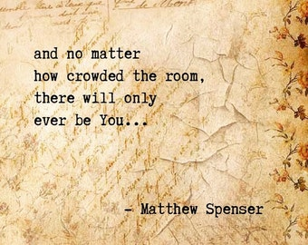 There will only ever be You - an original poem by Matt Spenser