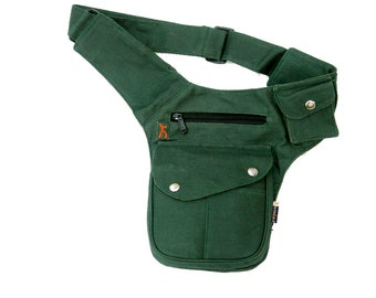2 BUTTON MODEL - Utility belt marsupio pocket festival travel holster borsa cintura pouch hipbag fondina tracolla tasca portadocumenti