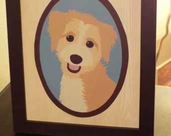 WITH FRAME | Illustrated Family Portrait 1-2 People/Pets
