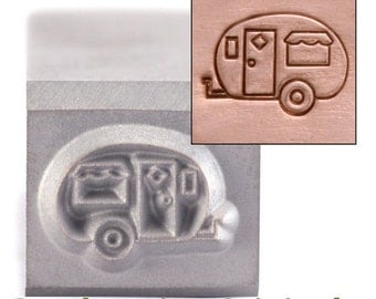 Camper Metal Stamp 8mm x 5.75mm - Metal Stamping / Punch Tools for Metal Stamped DIY Jewelry, Jewelry Making Tools (DS241)