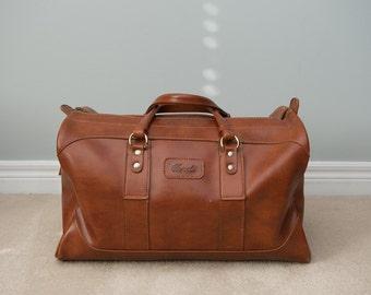 Vintage Italian Overnight Bag