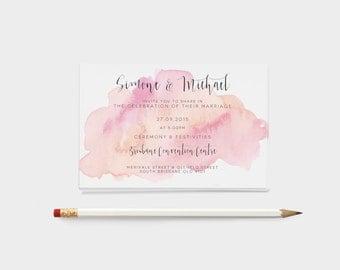 Wedding Invitation - Printable Ink Design