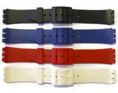Gents 17mm Swatch Compatible Resin Watch Strap  Watch Band