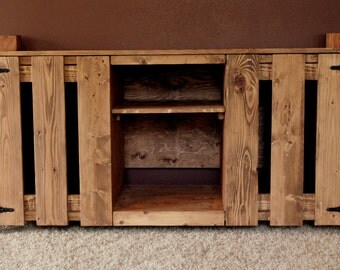 Rustic Knotty Pine TV Stand/Hutch