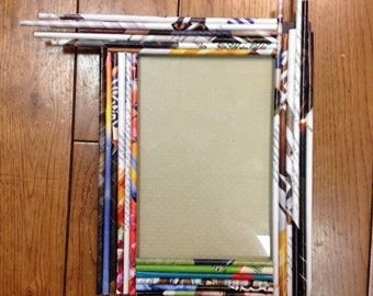 Unique Rolled Paper Picture Frame