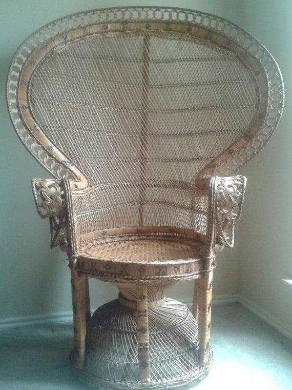 Peacock Wicker Chair Home Decor