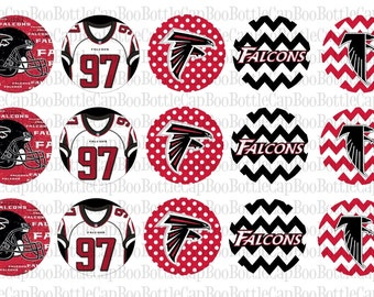 Atlanta Falcons Inspired Bottle Cap Images