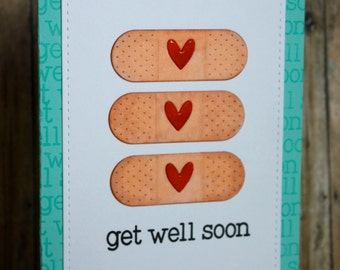 Get Well Soon Card-Band Aid card