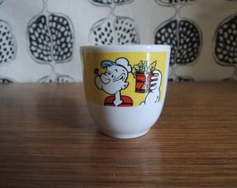 Vintage popeye & Olive Egg Cup 1989 Ceramic