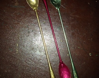 15 Aluminum Teaspoons in Assorted colors