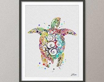 sea turtle poster sea turtle print watercolor poster green turtle decor sea turtle art watercolor print watercolor poster wall decor A124