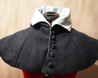 Lady's medieval hood with tail, XIV-XV century, all hand stitched