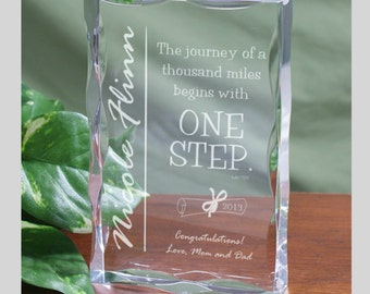 Engraved Graduation Keepsake Block