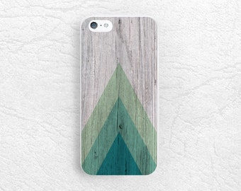 Geometric Wood print Phone Case for iPhone 7, Sony Z5 compact, LG Nexus 5X, HTC one M9 m8, Samsung S7 edge, Note 5 green triangle Cover -S1