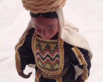 Vintage 1960's Ornate Israeli Sabra doll. Very rare