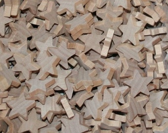 "Unfinished Wood Stars 5/8"" x 1/8"""